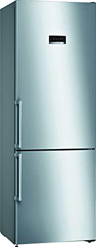 Bosch KGN49XIEP Serie 4 Freistehende XXL-Kühl-Gefrier-Kombination/E / 203 x 70 cm/Inox-antifingerprint / 330 L Kühlteil / 105 L Gefrierteil/NoFrost/VitaFresh