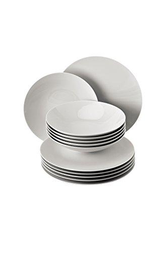 Rosenthal - TAC Gropius Tafelset 12- teilig - Weiß (Speiseteller Ø 28 cm / Suppenteller Ø 24 cm)