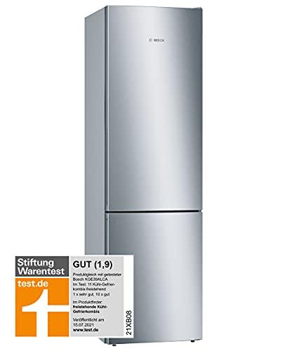 Bosch KGE39AICA Serie 6 Freistehende Kühl-Gefrier-Kombination / C / 201 cm / 149 kWh/Jahr / Inox-antifingerprint / 249 L Kühlteil / 94 L Gefrierteil / LowFrost / VitaFresh