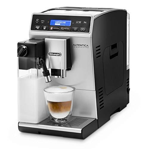 De'Longhi Autentica Cappuccino ETAM 29.660.SB Kaffeevollautomat mit LatteCrema Milchsystem, Cappuccino und Espresso auf Knopfdruck, Digitaldisplay mit Klartext, 2-Tassen-Funktion, silber