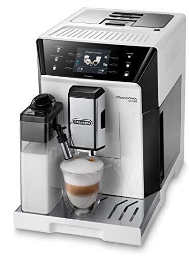 De'Longhi PrimaDonna Class ECAM 556.55.W Kaffeevollautomat mit LatteCrema Milchsystem, Cappuccino und Espresso auf Knopfdruck, 3,5 Zoll TFT Farbdisplay und App-Steuerung, weiß